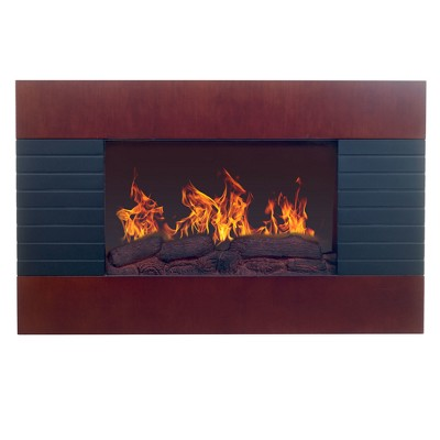 Northwest Electric Fireplace With Wall Mount & Remote Mahogany