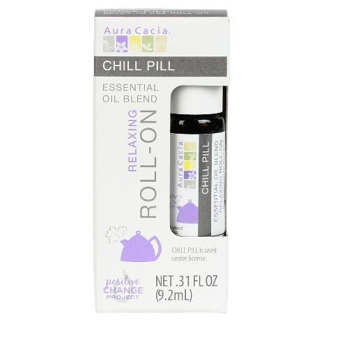 Aura Cacia Chill Pill Essential Oil Blend Roll-On - .31 fl oz - image 1 of 4