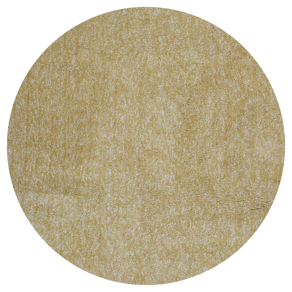 Yellow Solid Woven Round Area Rug 6' - Kas Rugs