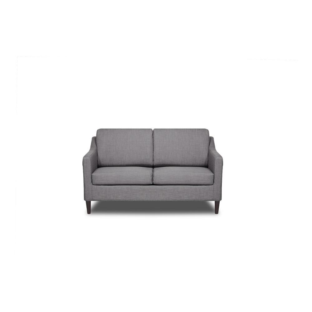 Decker Loveseat Flannel Gray - Sofas 2 Go
