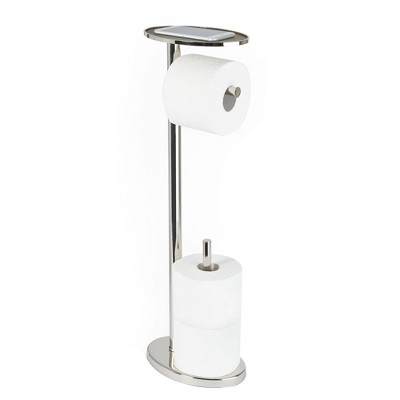 Ovo Multi Functional Toilet Caddy with Toilet Tissue Roll Reserve and Multi Use Tray  - Better Living Products