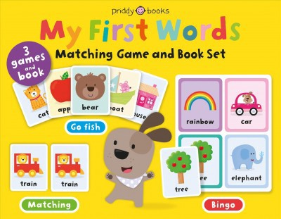 My First Words Matching Game and Book Set : Three Games and a Book - by Roger Priddy (Hardcover)