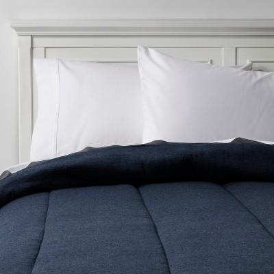 Heather Navy Solid Jersey Comforter (Full/Queen)- Room Essentials™