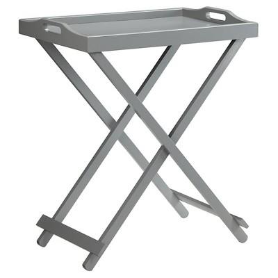 Designs2Go Folding Tray Table Gray Medium Convenience Concepts
