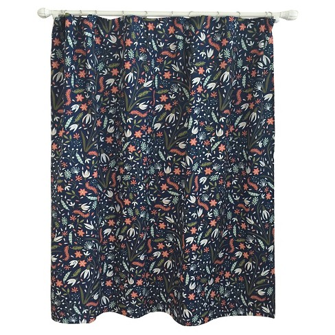 Floral Festival Shower Curtain Navy - Pillowfort™ - image 1 of 1
