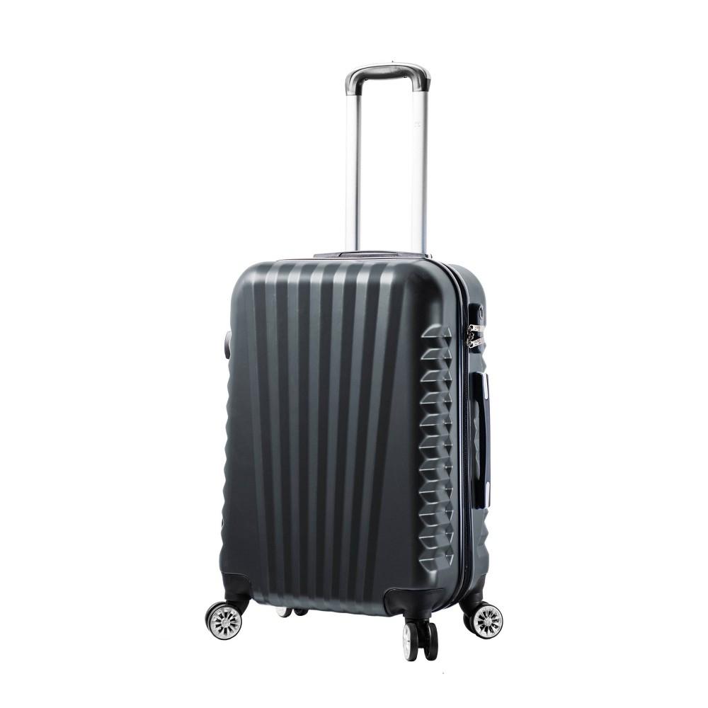 """Image of """"Mia Viaggi ITALY Catania 24"""""""" Hardside Suitcase - Black"""""""