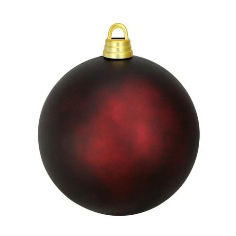 Northlight 12 Shatterproof Matte Christmas Ball Ornament Burgundy Target