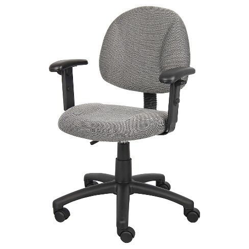 Deluxe Posture Chair with Adjustable Arms Gray - Boss Office Products - image 1 of 4