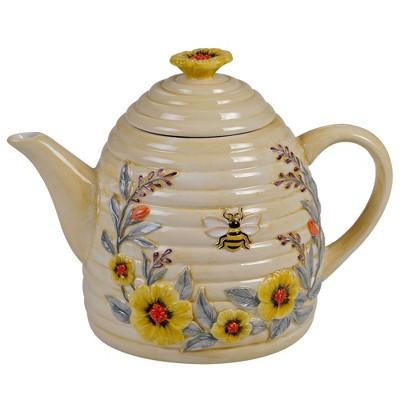32oz Earthenware Sweet As A Bee Teapot - Certified International