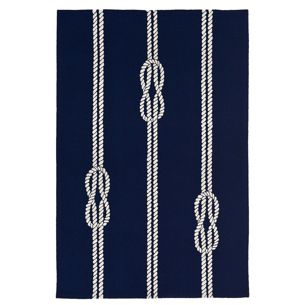 Capri Ropes Rug - Navy (Blue) - (5'X7'6) - Liora Manne