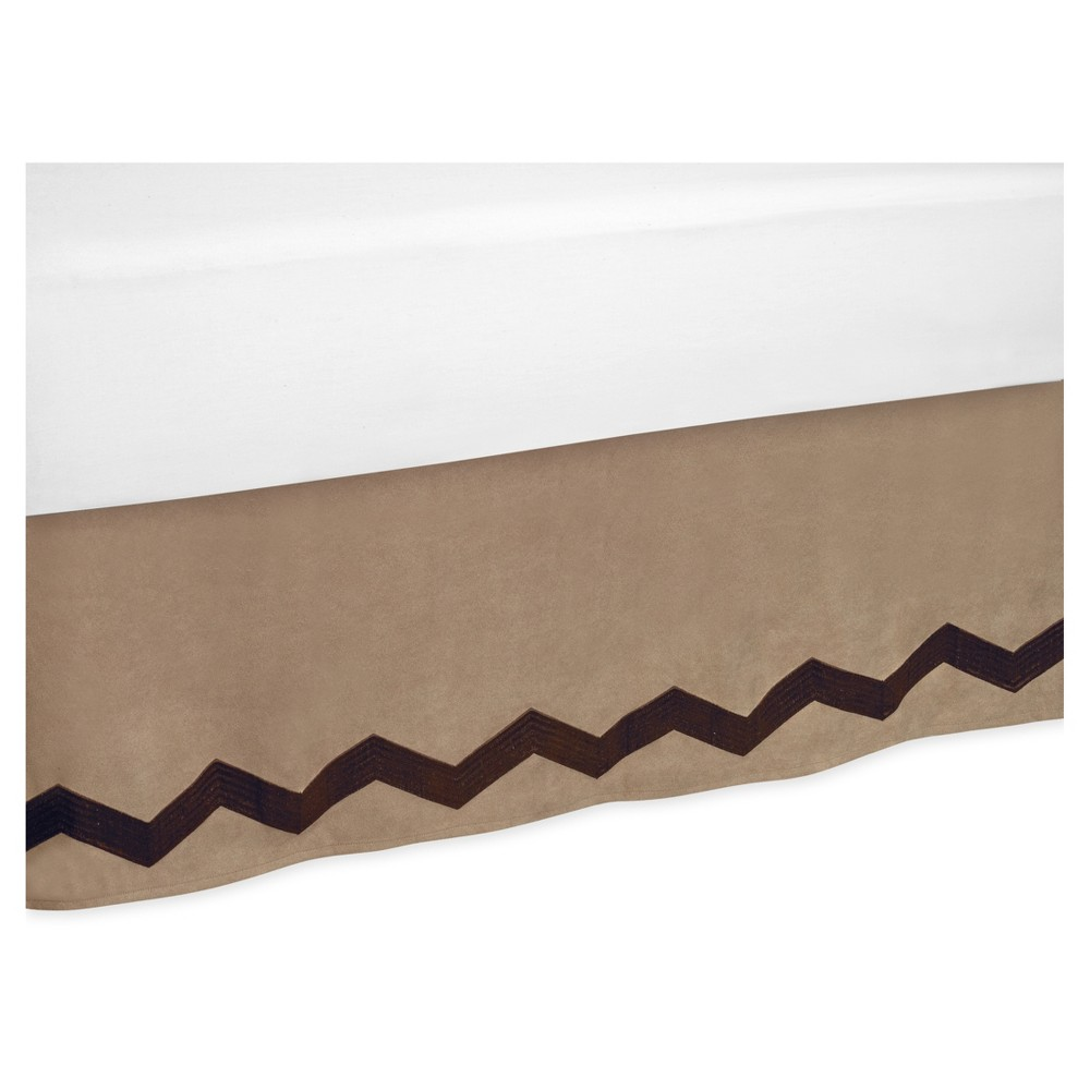 Image of Brown Bed Skirt - Sweet Jojo Designs, Beige Brown