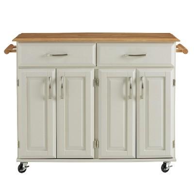 Dolly Madison White Kitchen Cart White - Home Styles
