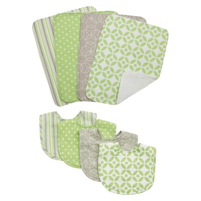 Trend Lab 8pc Bib & Burp Cloth Gift Set - Lauren