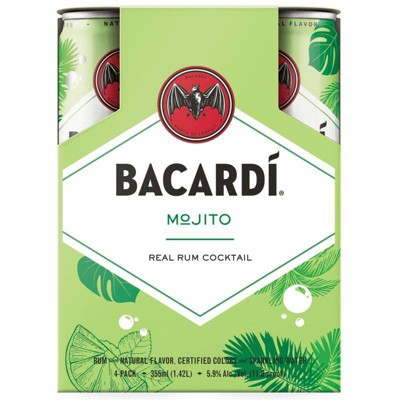 Bacardi Real Rum Mojito Cocktail - 4pk/355ml Cans