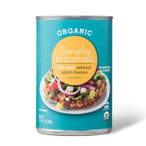 Organic Fat Free Refried Pinto Beans 16oz - Simply Balanced™ - image 1 of 1