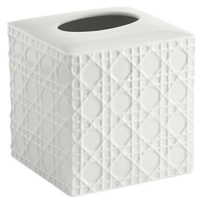Wicker Tissue Holder White - Cassadecor
