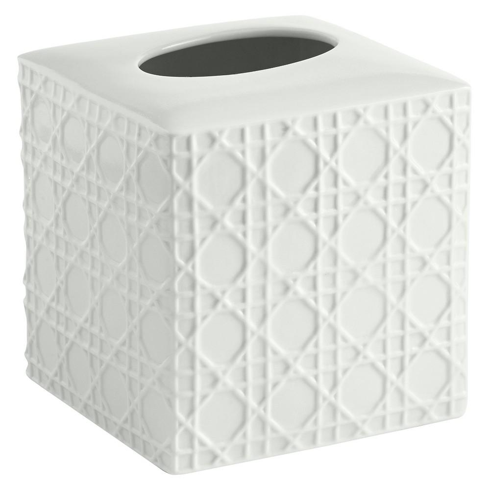 Image of Wicker Tissue Holder White - Cassadecor