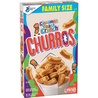 General Mills Family Size Cinnamon Toast Crunch Churros Cereal - 19.3oz