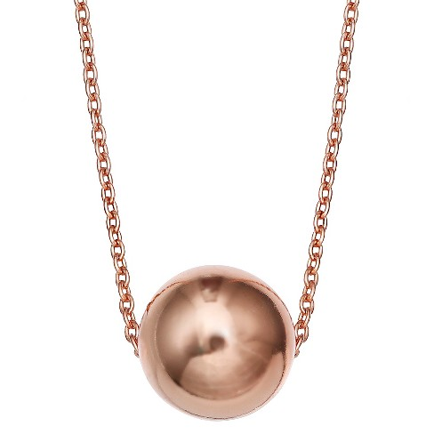 "Ball Slider Pendant in Sterling Silver - Rose Gold (18"") - image 1 of 1"