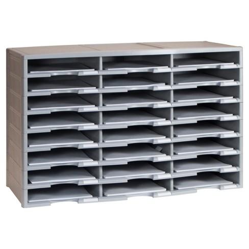 Storex Literature Organizer 24 Compartments - Gray - image 1 of 1