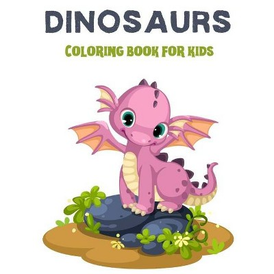 Dinosaurs coloring book for kids - by  The Smart Mermaid Publishing (Paperback)
