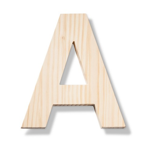 hand made modern wood letter large a