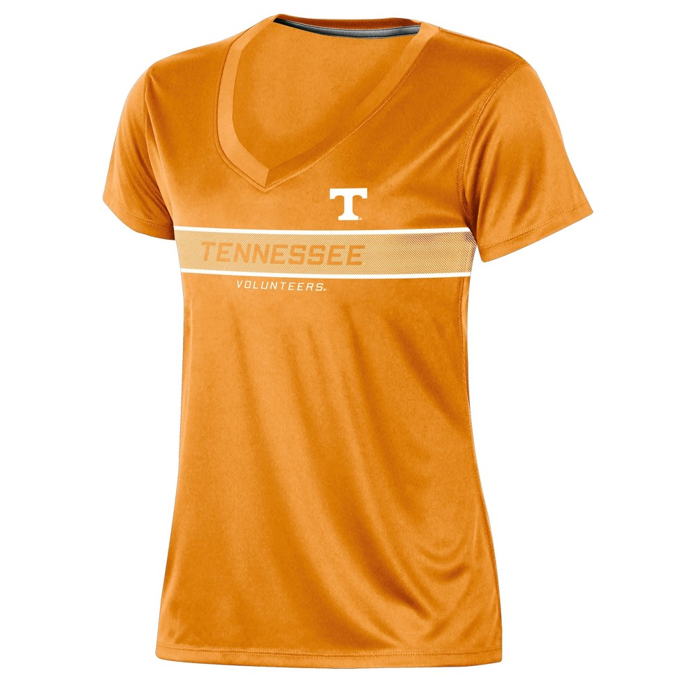 Tennessee Volunteers Women's Short Sleeve V-Neck Performance T-Shirt - L, Multicolored