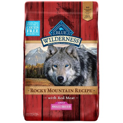 Blue Buffalo Wilderness Grain Free Rocky Mountain Recipe with Red Meat Small Breed Dry Dog Food