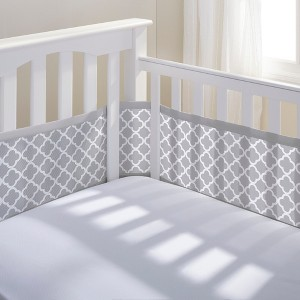 Breathable Baby Clover Mesh Liner - Gray, Green Gray