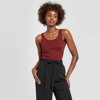 Women's Slim Fit Any Day Tank Top - A New Day™ Burgundy L