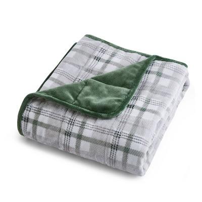"10lbs 50""x60"" Shiny Velvet Reversible Weighted Throw Blanket - Dreamnest"