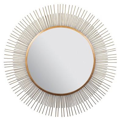 36  Sunburst Wall Mirror Gold - Gallery Solutions