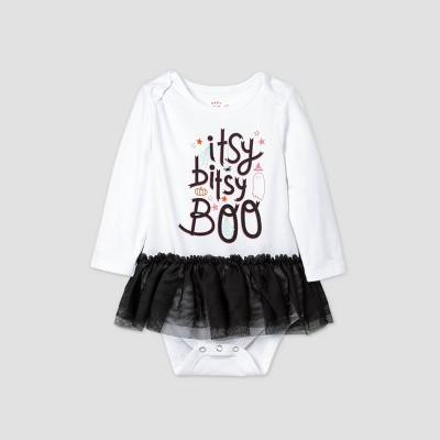 Baby Girls' 'Itsy Bitsy Boo' Tutu Bodysuit - Cat & Jack™ White 18M
