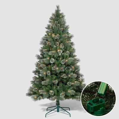 Philips 7ft Pre-Lit Full Virginia Pine Artificial Tree with LED Fire Fly Lights and Auto Connect
