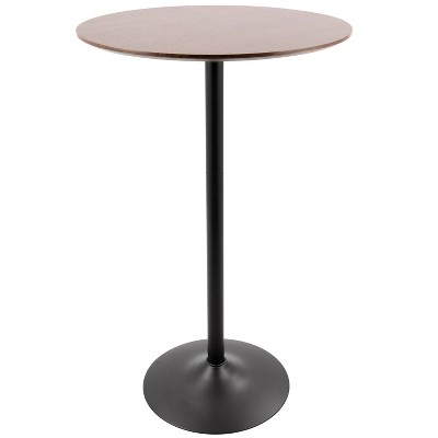 Pebble Mid-Century Modern Bar Height Table Walnut/Black - LumiSource