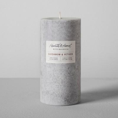 Pillar Candle (3 x6 )- Cardamom & Vetiver - Hearth & Hand™ with Magnolia