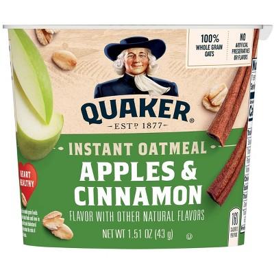 Quaker Instant Oatmeal Cup Apple Cinnamon 1.51oz