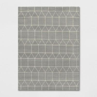 9'2 X12' Woven Geometric Area Rug Light Gray - Project 62™