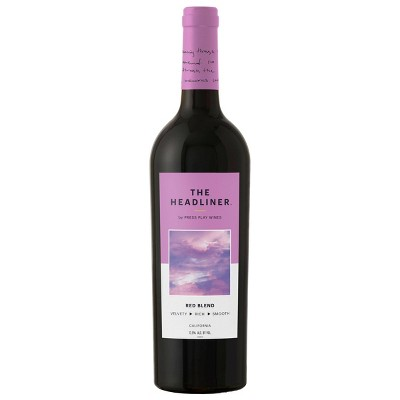 Red Blend Wine – 750ml Bottle – The Headliner by Press Play Wines