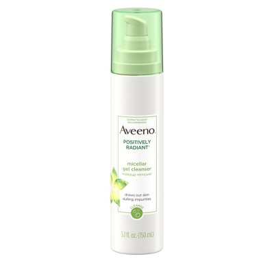 Facial Cleanser: Aveeno Positively Radiant Micellar Gel Cleanser