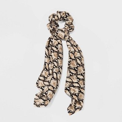 Snake Print Twister Scarf Hair Elastic - Wild Fable™