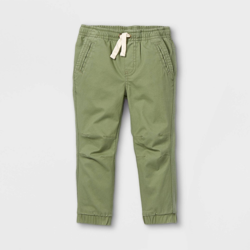 Toddler Boys 39 Knit 38 Woven Pull On Jogger Chino Pants Cat 38 Jack 8482 Green 4t
