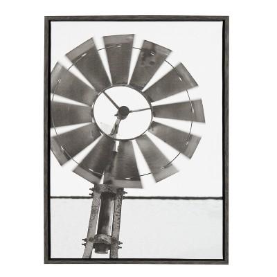 "23"" x 33"" Sylvie Rustic Windmill Framed Canvas by Jami Skarda Gray - Kate and Laurel"