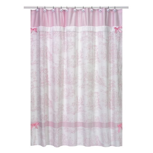 Toile Shower Curtain Pink - Sweet Jojo® - image 1 of 1