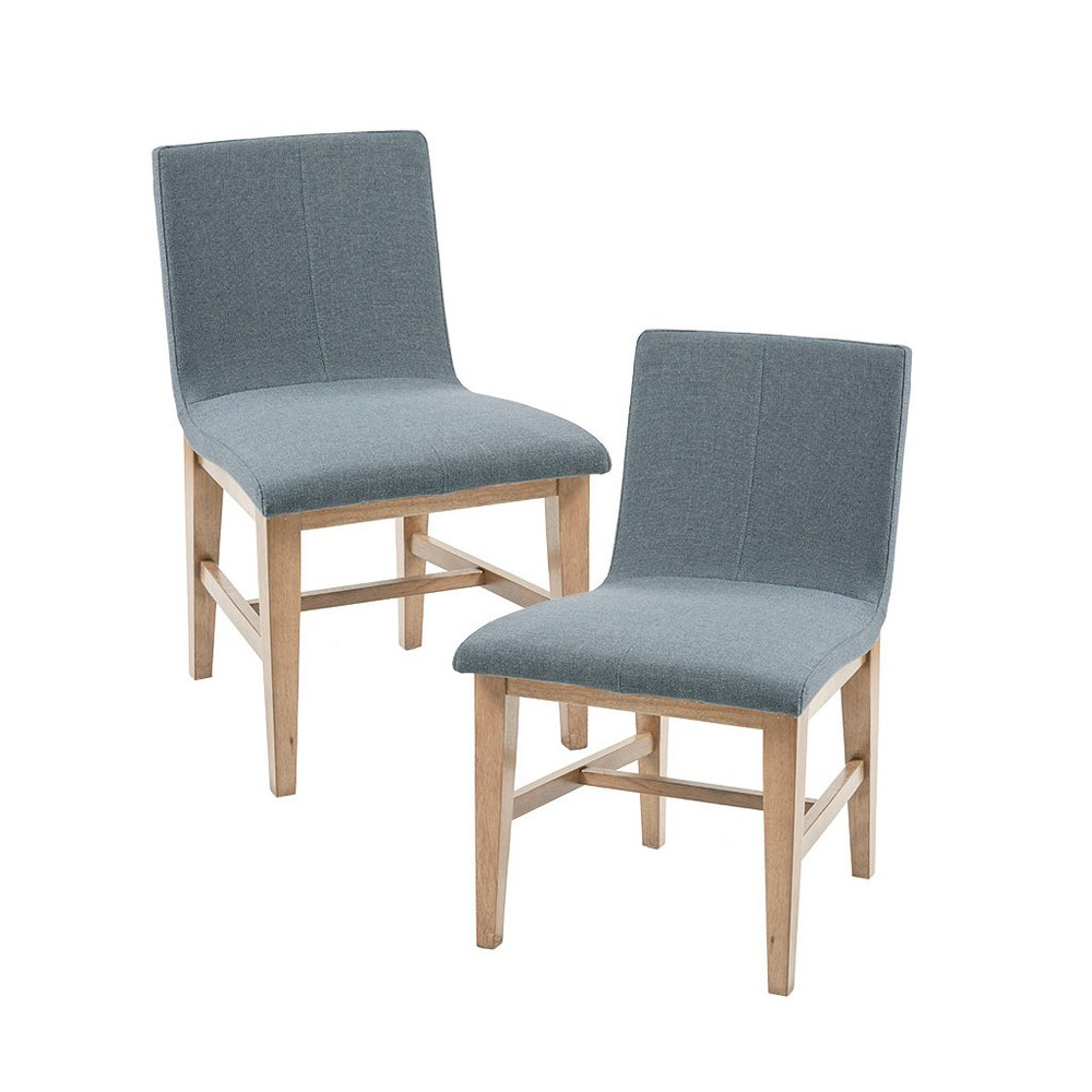 Set of 2 Dining Chairs Blue