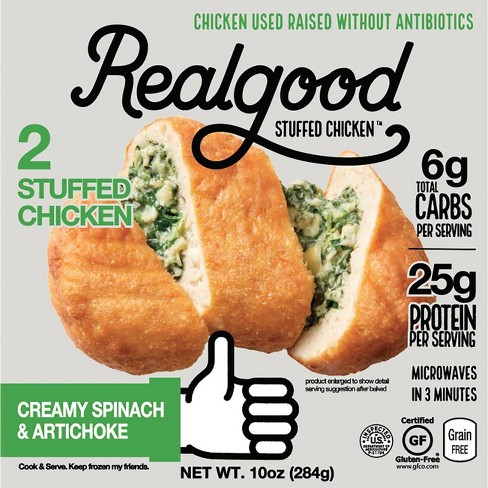 Realgood Creamy Spinach & Artichoke Stuffed Chicken Breasts - 10oz/2ct - image 1 of 4