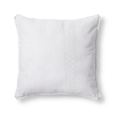 White Crochet Linen Blend Euro Pillow - Simply Shabby Chic®