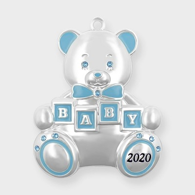 Harvey Lewis 2020 Baby's First Christmas Blue Ornament with Crystals from Swarovski