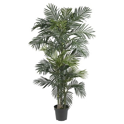 Nearly Natural 6.5' Golden Cane Palm Silk Tree
