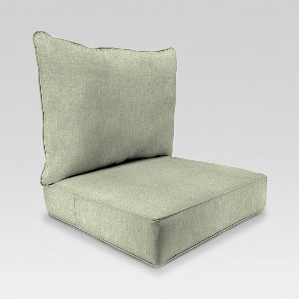 Image of 2pc Deep Seat Chair Cushion - Light Green - Jordan Manufacturing